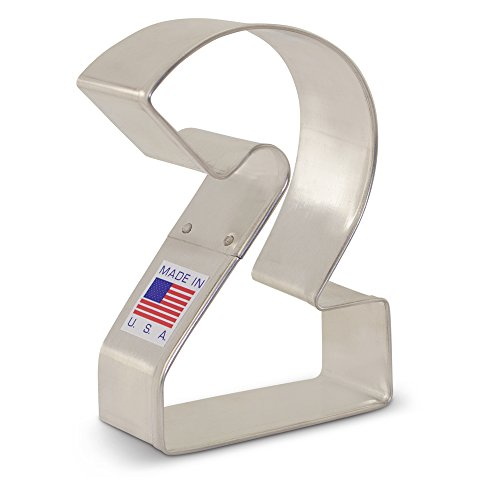 Price comparison product image Number Two / 2 Cookie Cutter - 3 Inch - Ann Clark - US Tin Plated Steel