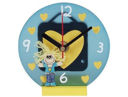 Uhr künftige Figur Junge/Mädchen-Etagere 6Stück transparent -