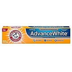 Arm & Hammer Advance White Toothpaste, Fluoride, Anticavity, Extreme Whitening, Baking Soda & Peroxide, Fresh Mint Flavor 6 Oz (Pack of 3)