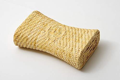 IKEHIKO IKEA 2505809 traditionelles Japanisches Kissen aus natürlichem Calamea-Gras, atmungsaktiv, perfekt für Sommernächte, 30 x 19 cm