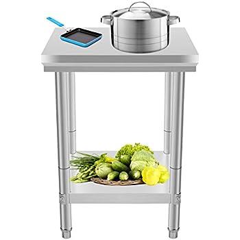 Buoqua 60x60x80cm tavolo da lavoro per cucina - Tavolo lavoro cucina ...