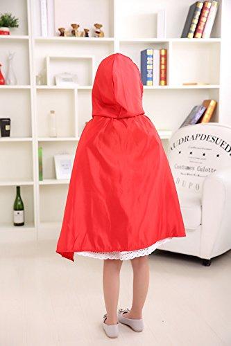 Imagen de las niñas halloween caperucita roja capa capa de disfraz de libro de cuentos niño disfraz alternativa