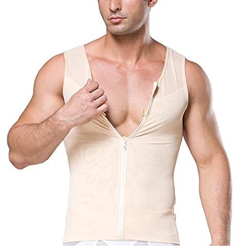 Mirecoo Herren Slim fit Netz Bauch-Körper-Former abnehmend Shirt kompressions Weste