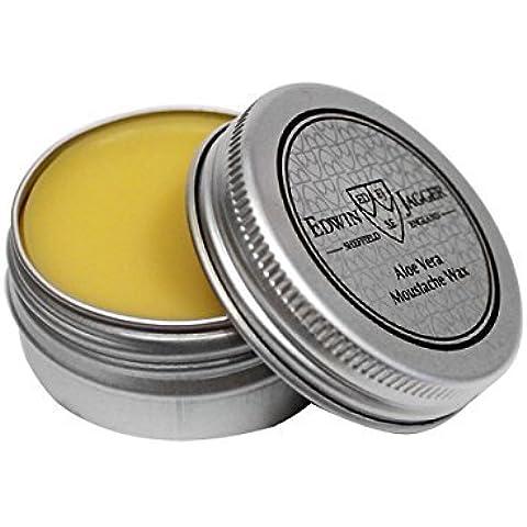 EDWIN JAGGER Aloe Vera Mustache Wax Pomade Tin 15ml 0.5fl oz by Edwin Jagger