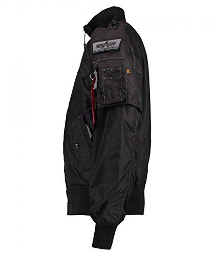 Alpha Industries Herren Jacke Starfighter Schwarz (Black 03)