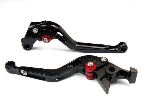 une paire de moto six positions extensibles CNC de frein en aluminium de leviers d'embrayage s'adapter pour Yamaha YZF R6 2005 2006 2007 2008 2009 2010 2011 2012 (Y-688/R-104)