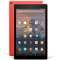 "Fire HD 10 Tablet with Alexa Hands-Free, 10.1"" 1080p Full HD Display, 32 GB, Punch Red – with Special Offers"