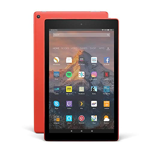 "Fire HD 10 Tablet with Alexa Hands-Free, 10.1"" 1080p Full HD Display, 64 GB, Punch Red – with Special Offers"