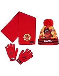Angry Birds - Ensemble bonnet, écharpe et gants - Garçon