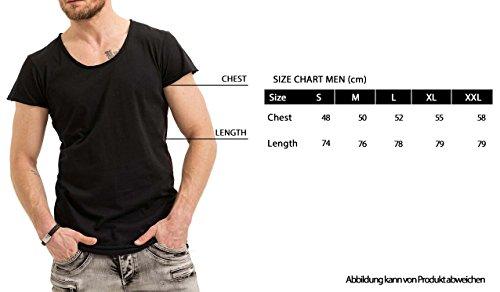 trueprodigy Casual Herren Marken T-Shirt einfarbig Basic, Oberteil cool und stylisch mit Rundhals (kurzarm & Slim Fit), Shirt für Männer in Farbe: Weiß 1073139-2000 White