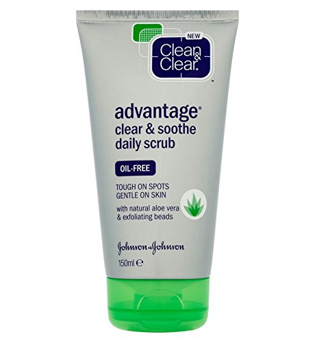 Clean & Clear ADVANTAGE Clear & Soothe Daily Scrub, 150ml (Imported)