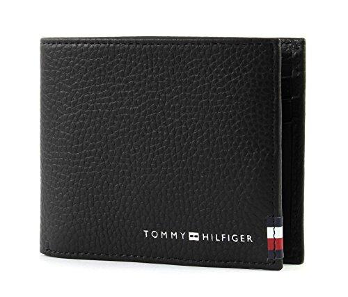 Preisvergleich Produktbild TOMMY HILFIGER Soft Leather Mini CC Wallet Black
