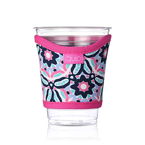 Occasionally Made O-Q102-CC-01KD Kaleidoskop Quip Cup Coolie, Mehrfarbig Monogram Old Fashioned Glas