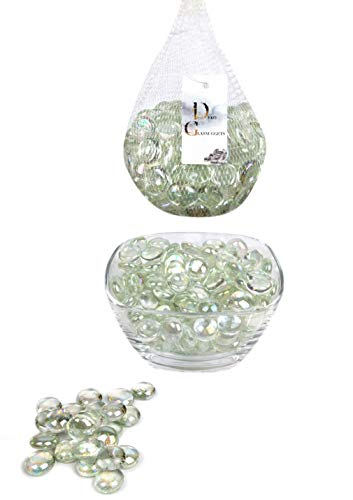 Erment-Hübsche Glasnuggets, Glas Dekosteine, Muggelsteine, Vasenfüller - 800 g (Neu) (klar) Klar-glas