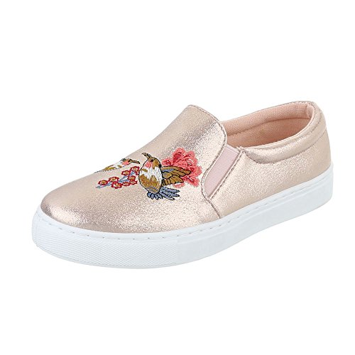 Ital-Design - Pantofole Donna oro Rosa