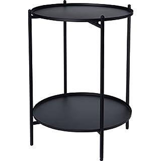 made2trade Beistelltisch, Nachttisch, Kaffetisch fürs Wohn- und Schlafzimmer aus Metall in Schwarz