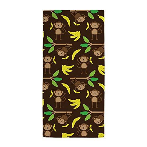 CafePress–Affen Bananen braun–Große Strandtuch, weiche 76,2x 152,4cm Handtuch mit Einzigartiges Design