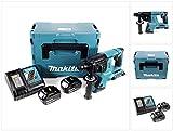 Makita DHR 263 RMJ 2x18V / 36 V SDS-Plus Akku Bohrhammer mit 2 x 4,0 Ah Akku + DC18RC Ladegerät im Makpac 4