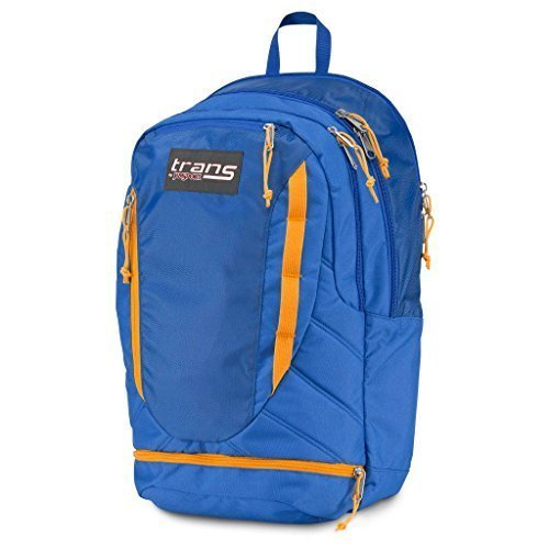 JanSport Trans 50,8 cm Kondensator Rucksack Laptop Schule Tasche, Blue Streak orange (Jansport Canvas Rucksack)