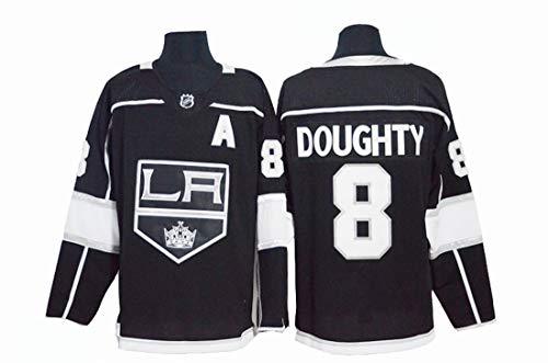Gmjay Drew Doughty # 8 Eishockey Los Angeles Kings Hockey Schwarz Genähte Buchstaben Zahlen NHL Eishockey Tops,M