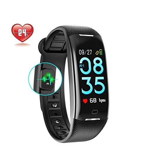 Fitness Tracker,Blood Oxygen Pressure Heart Rate Monitor Activity Tracker,Waterproof IP67 Smart Wristband,Bluetooth Wireless Activity Bracelet with Replacement Strap for Android and IOS Smartphones