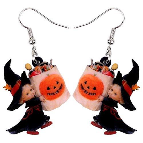 cker Ohrhänger Acryl Halloween Süße Engel Süßigkeitstasche Ohrringe Tropfen Baumeln Party Dekoration Kostüme Schmuck Für Frauen Mädchen Teens Geschenk ()