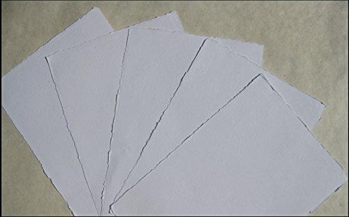 handgeschöpftes Büttenpapier Aquarellpapier A2+ Überformat 10 Bogen/Set naturweiß 200g/m² BaumwollLinters
