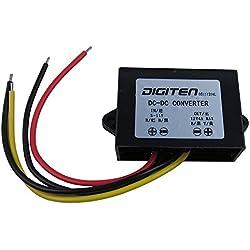 Digiten - Convertisseur élévateur de qualité industrielle - CC de 6 à 11V vers 12V - 4 A - Régulateur étanche - Module d'alimentation renforcé