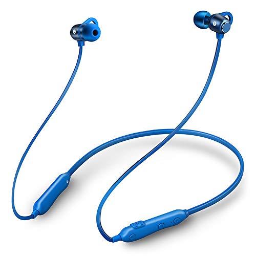DANGSHUO Auriculares inalámbricos con cancelación de Ruido Bluetooth 5.0 Estéreo magnético Auriculares estéreo a Prueba de Sudor Auriculares estéreo Integrados Auriculares Deportivos D