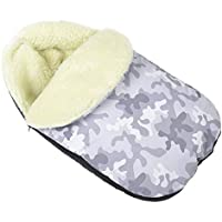 Comfortable Baby Sleeping Bag to Pushchairs Footmuff Cover Wool Camouflage [071]