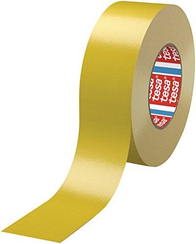 Tesa 4688PE tejido extrudida estándar de cinta adhesiva, 50m x 50mm, amarillo, 18unidades,