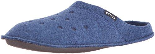 crocs Classic Slipper, Unisex-Erwachsene Ungefüttert Hausschuhe, Blau (Cerulean Blue/Oatmeal), 39/40 EU