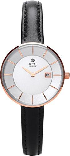 Royal London Ladies Fashion Mujer Reloj De Cuarzo Plata Fecha banda de piel 21321–05