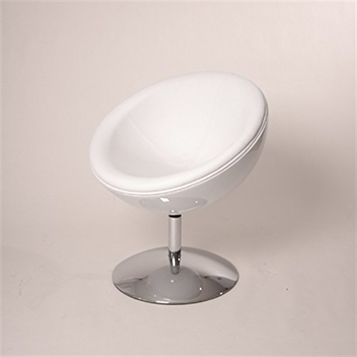 DESIGNER SCHALENSESSEL retro Möbel Lounge Cocktailsessel bequem gepolstert C13 weiß-weiß