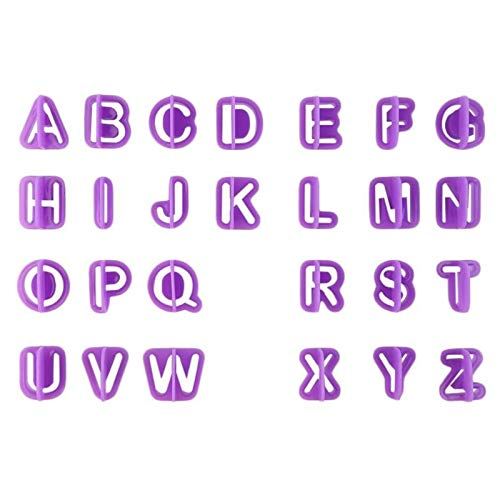 FIOLTY 40P abet Fondant Kuchen, der Werkzeuge DIY Kuchen-Form Ober Capit Letters Anzahl Cut-Outs Plätzchen