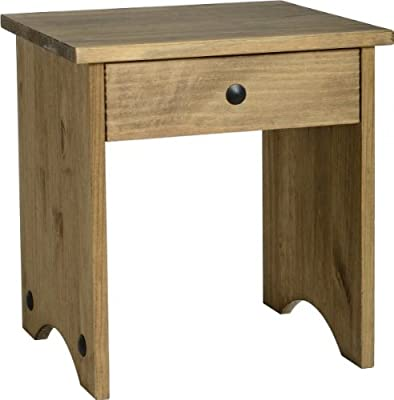 Corona Dressing Table Stool-Distressed Mexican Pine