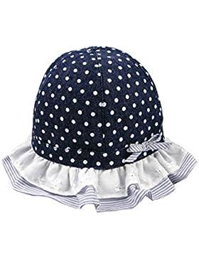 ACVIP Bambina Cotone Cappello da Sole a Pois con Pizzo Lato