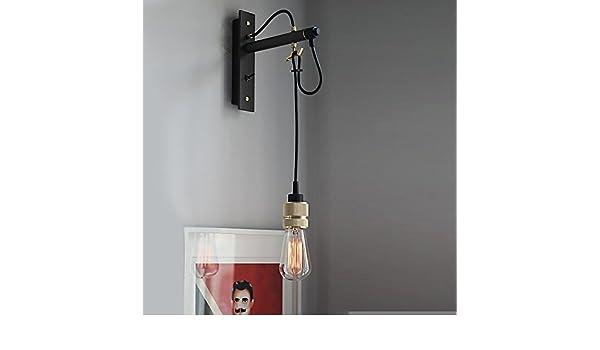 Vintage retro applique da parete lampada a muro con interruttore