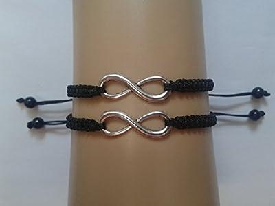 Couples en argent tibétain à l'infini bracelets