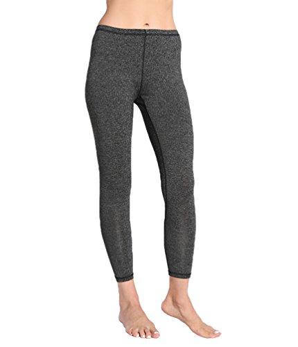 CHENGYANG Donne Alta Vita Yoga Pantaloni Sport Palestra Running Fitness Leggings Allenamento Scuro Grigio