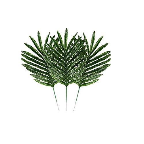 ZEELIY Künstliche Palmblätter Tropische nachgemachte Plantsleaves hawaiisches Partei-Thema Grün Pflanze Künstliche Tropische Blätter Grünes für Büro und Zuhause, Hochzeit Dekor Garten Wanddekoration