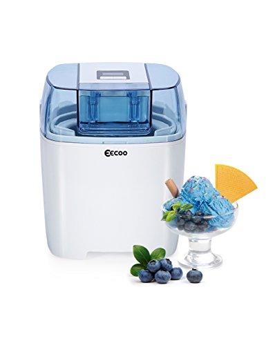 Eismaschine, Ice Cream Maker für Frozen Yoghurt, Sorbet und Eiscreme, 1,5 Liter Schale mit LCD Countdown Timer
