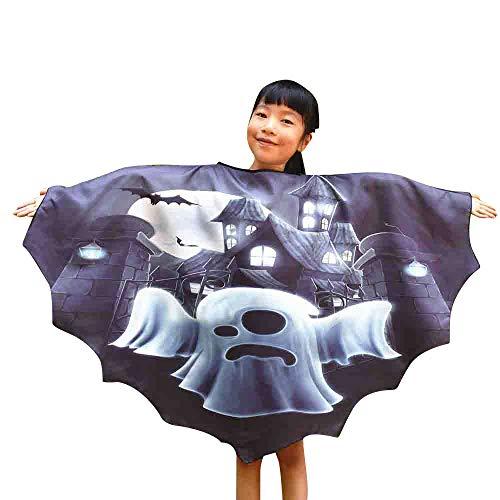 OverDose Damen Frauen Männer Halloween Print Fledermaus Schal -