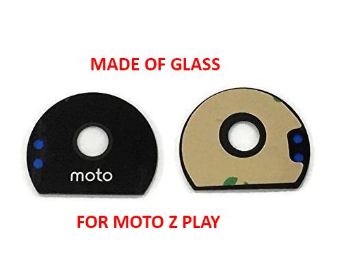 Anonymous Glass Camera Lens with Adhesive Sticker for Motorola Moto Z Play (Black)