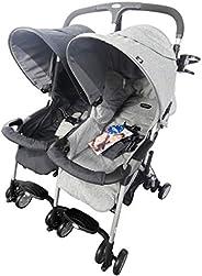 Evenflo Akin Twin Double Stroller - Grey, 12.6 Kg