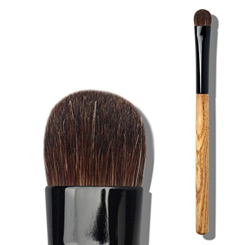 Pinceau à l'ombre à l'oeil au bois, doux et confortable Poudre de pinceau Longueur de 13,4 cm