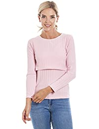 8690e70d6dfcd Central Chic Maternity Breastfeeding Soft Ribbed Jumper in M, L, XL