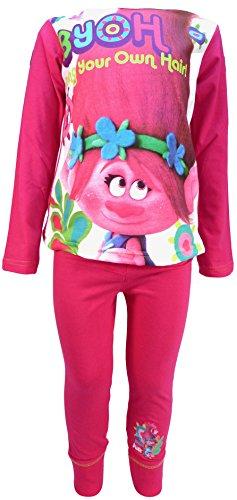 Trolls Pijama para niñas (4-5 Años)