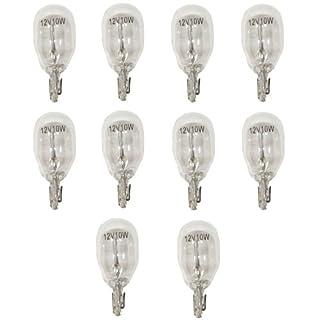 Aerzetix: 10 x Glühbirne W10 W T13 12 V 10 W W2.1 x 9.5d - c1735