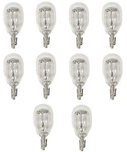 Aerzetix: Lot de 10 Ampoules W10W T13 12V 10W W2.1x9.5D - C1735
